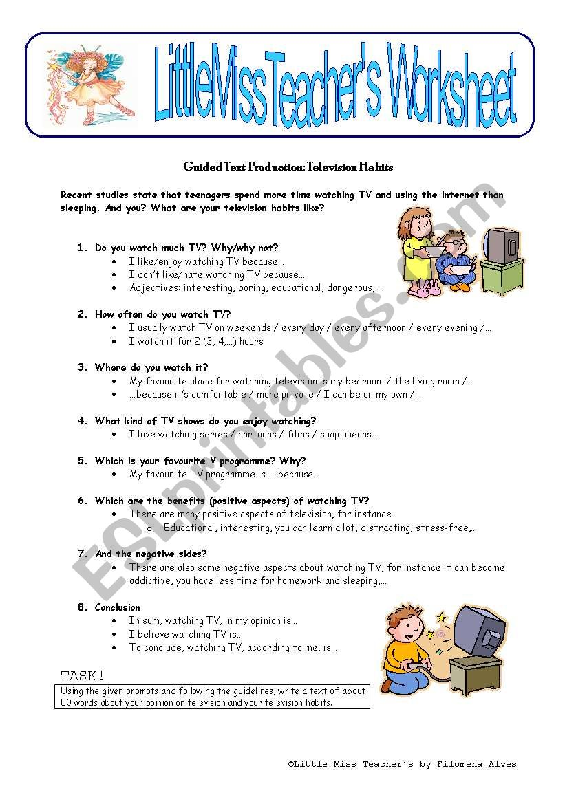 TV Habits worksheet