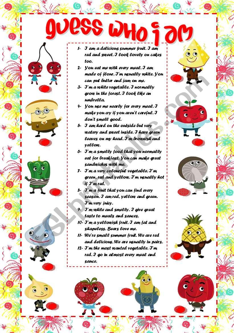 Guess What I Know: ESL Worksheet By Rose95