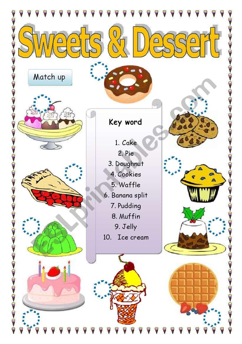Sweet & Dessert worksheet