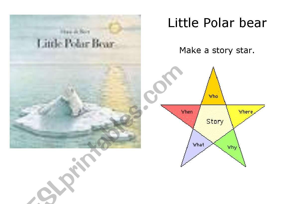 English Worksheets  The Little Polar Bear