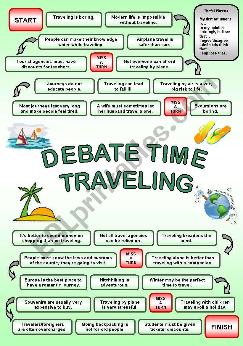 DEBATE TIME TRAVELING worksheet