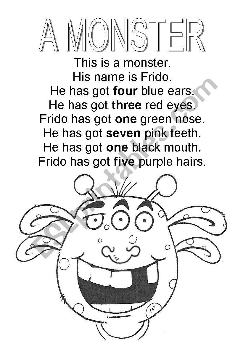 A monster worksheet