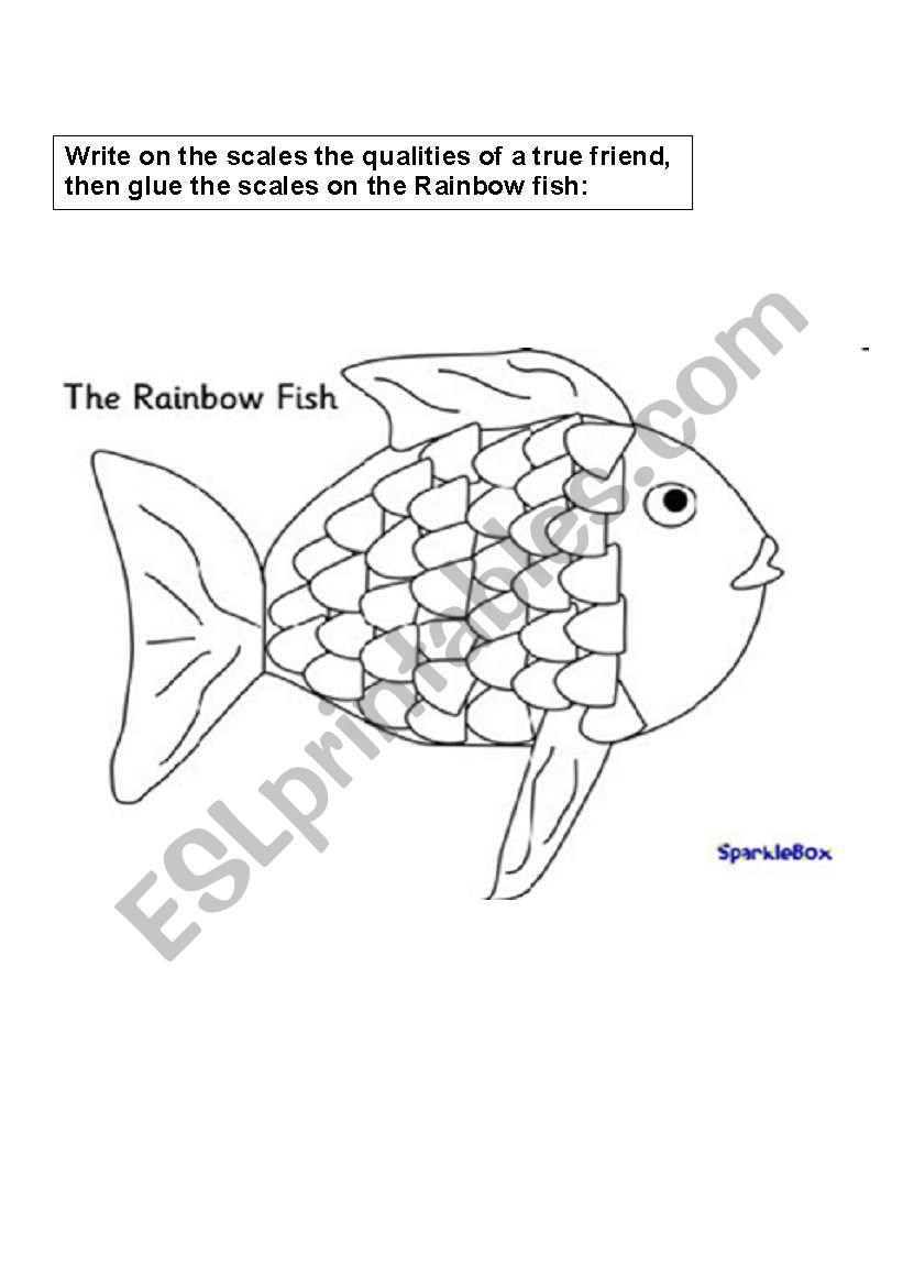 Worksheets Rainbow Fish Worksheets rainbow fish story worksheets esl worksheet by lianna
