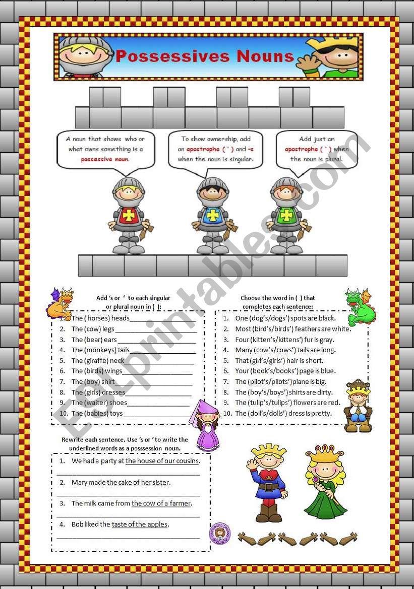 Posssessive Nouns worksheet