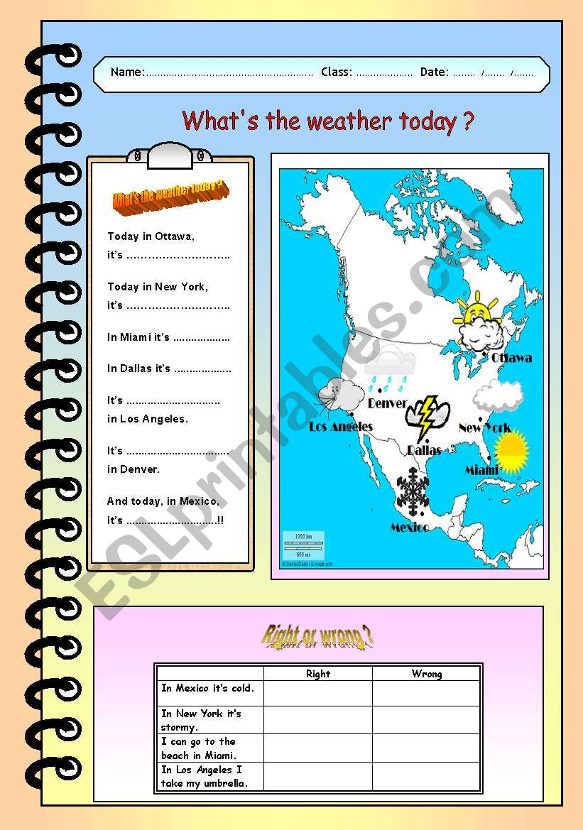 What´s the weather today? worksheet