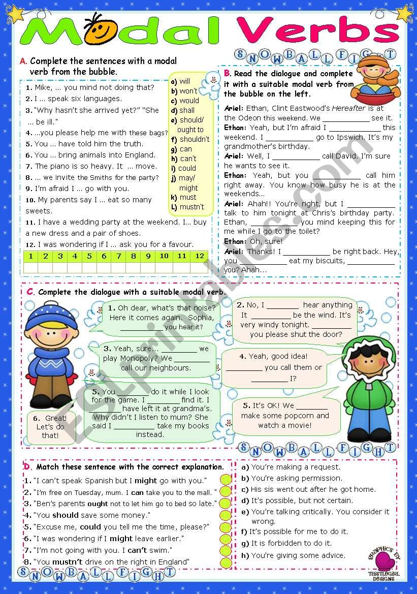 Modal Verbs  (1) worksheet