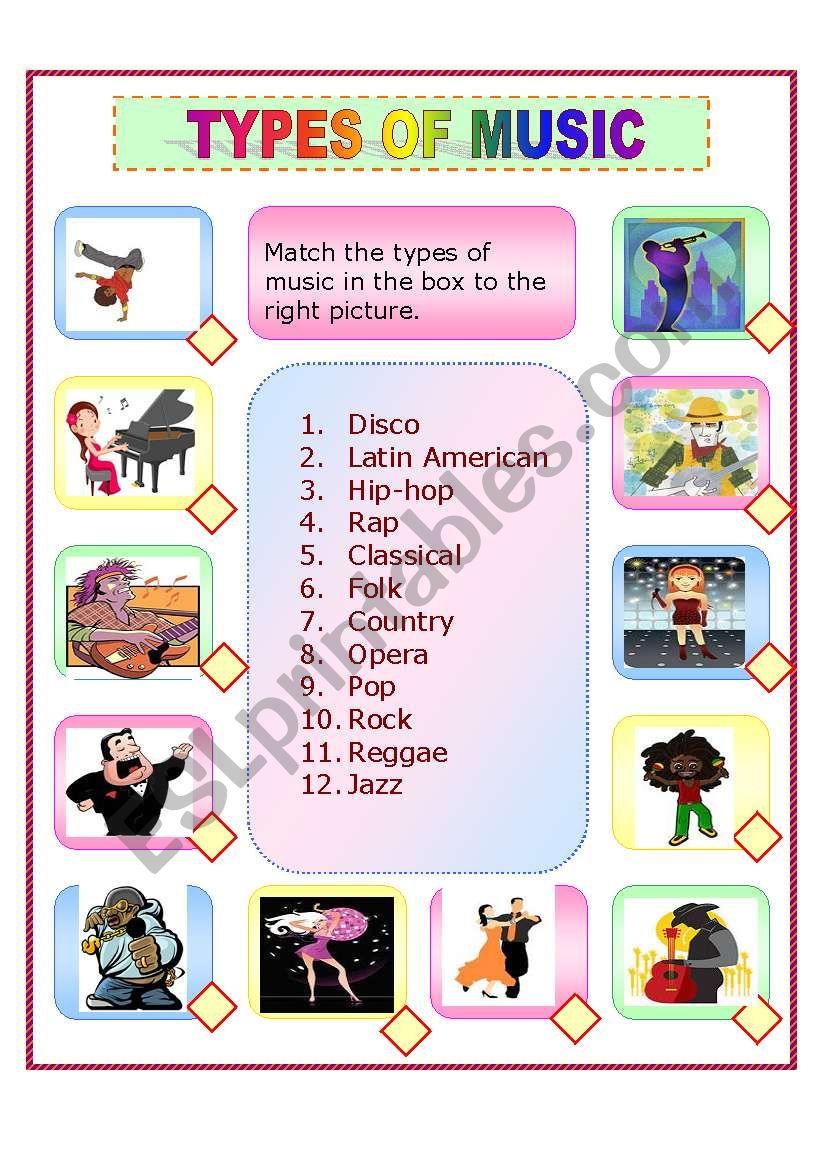 types worksheets esl english worksheet vocabulary preview