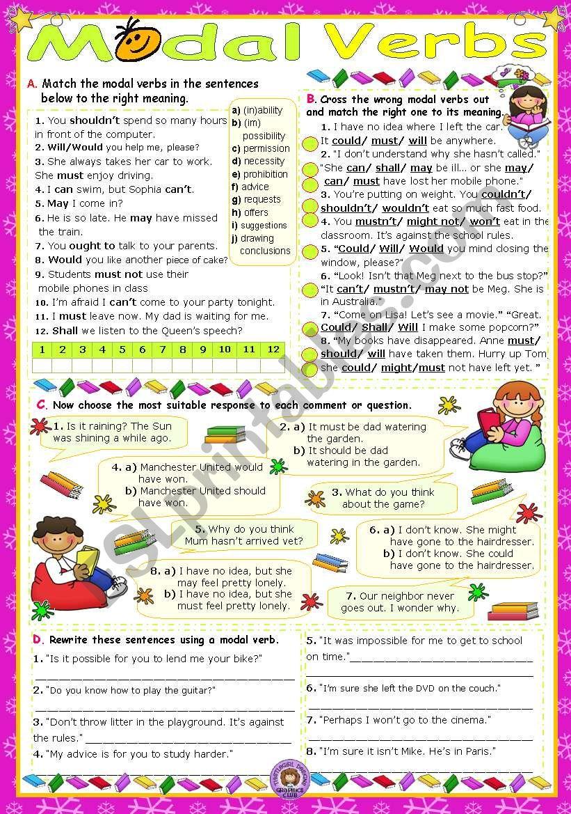 Modal Verbs (2) worksheet