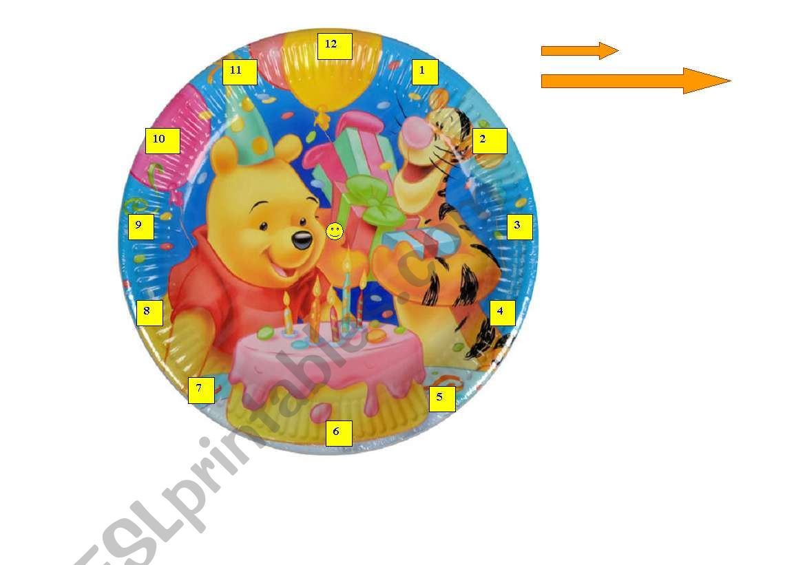Telling the Time with Winnie the Pooh poster ( CUT, PIN, POINT)