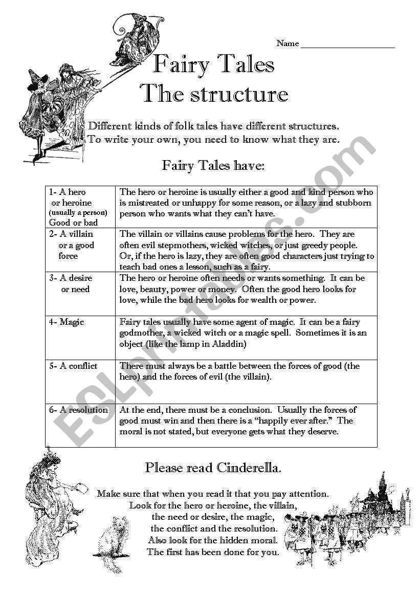 fairy tales esl worksheet by jessafish. Black Bedroom Furniture Sets. Home Design Ideas