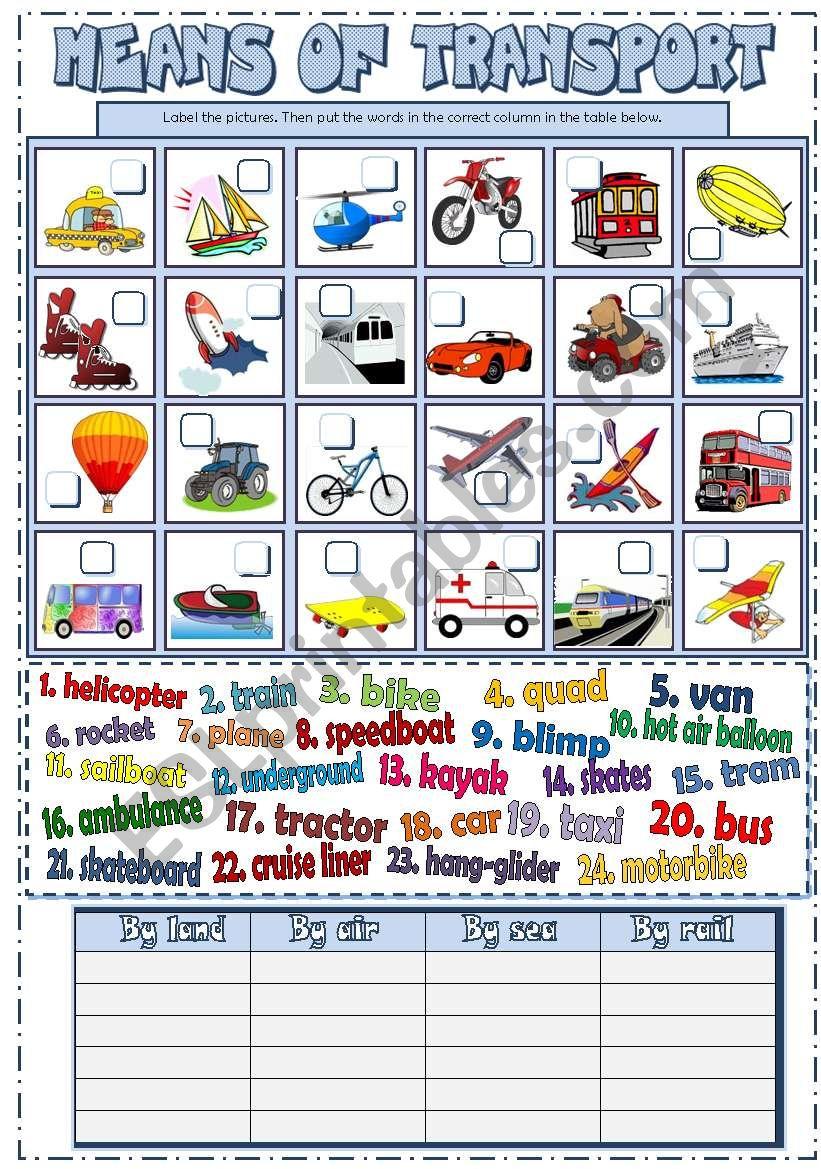 Means of Transport (B&W + KEY)