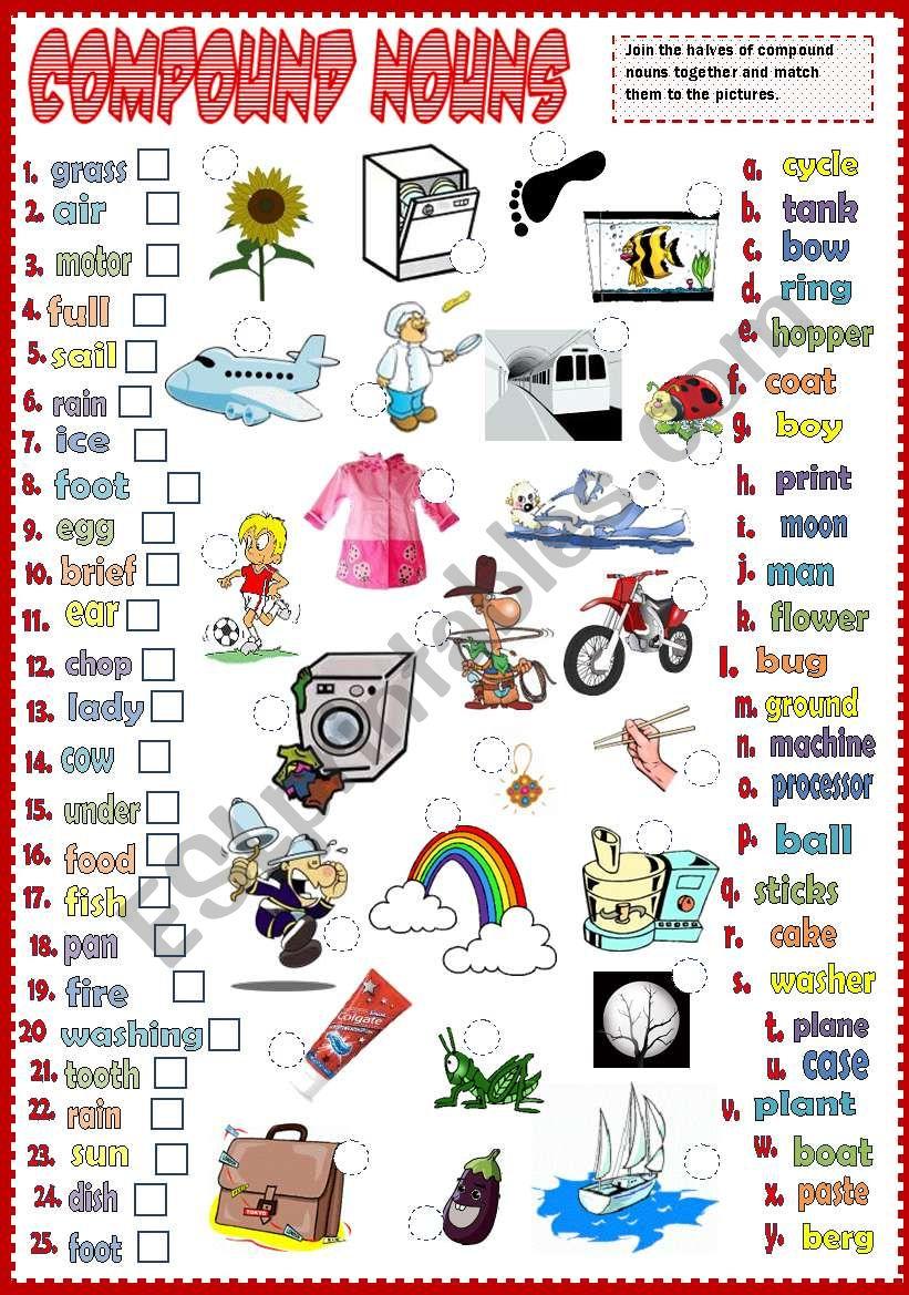 Compound Nouns 2 *B&W* worksheet