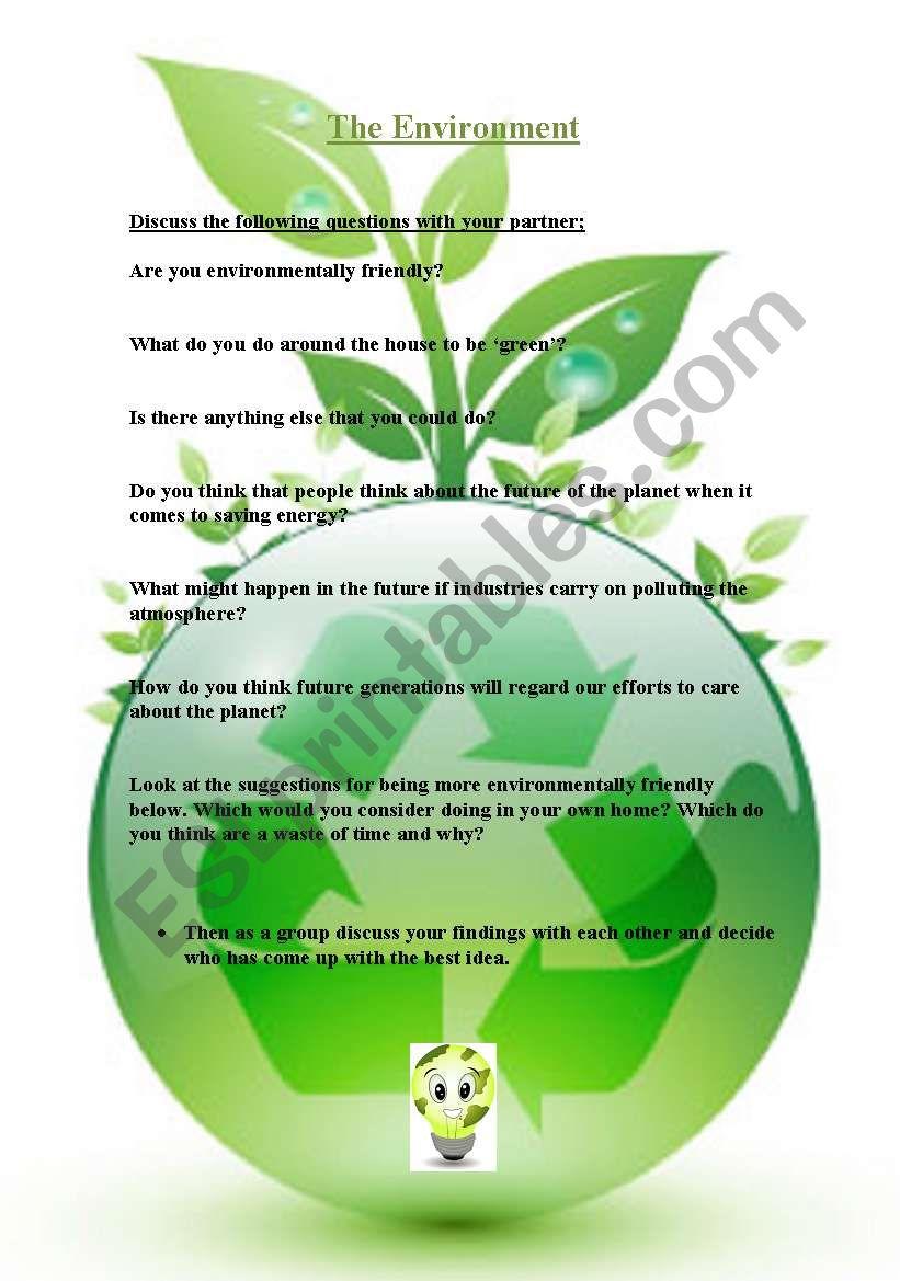 The Environment worksheet