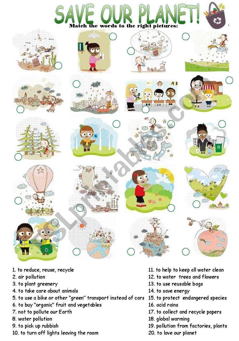 Enviromental Protection worksheet