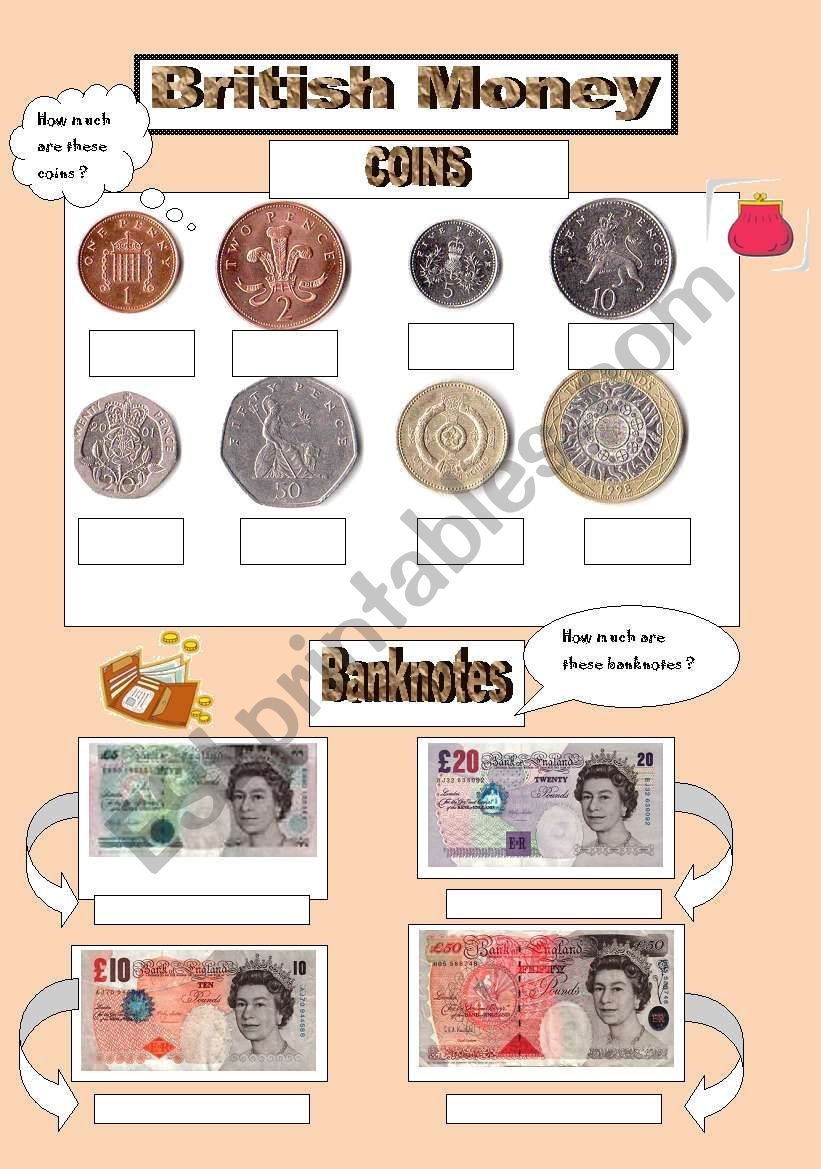 british money esl worksheet by valenaug. Black Bedroom Furniture Sets. Home Design Ideas
