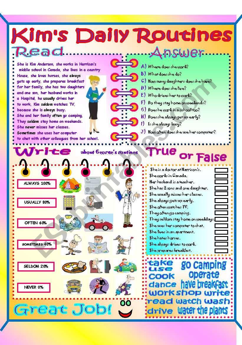 Present  Simple Review worksheet