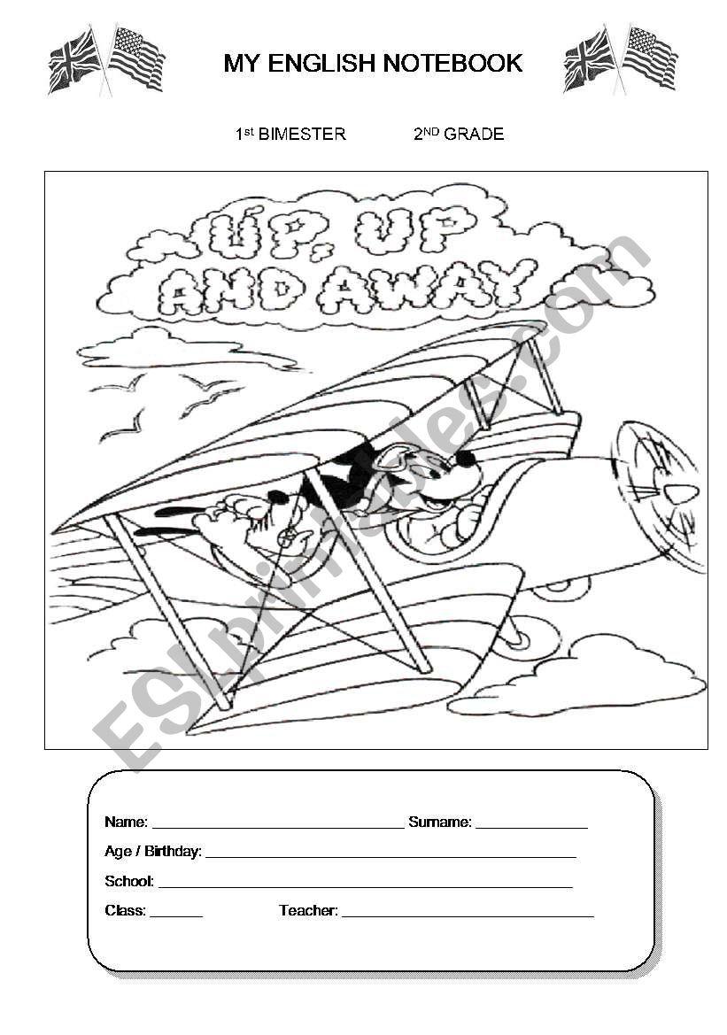 Notebook cover - pre-school worksheet