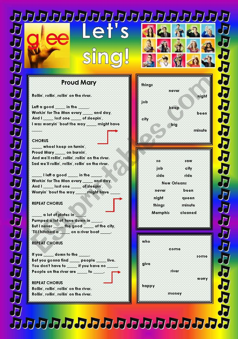 GLEE SERIES – SONGS FOR CLASS! S01E09 – THREE SONGS – FULLY EDITABLE WITH KEY!