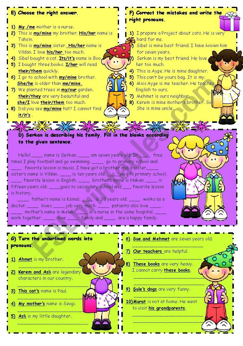 Possessive Adjectives-Object Pronouns-Possessive Pronouns 2/2