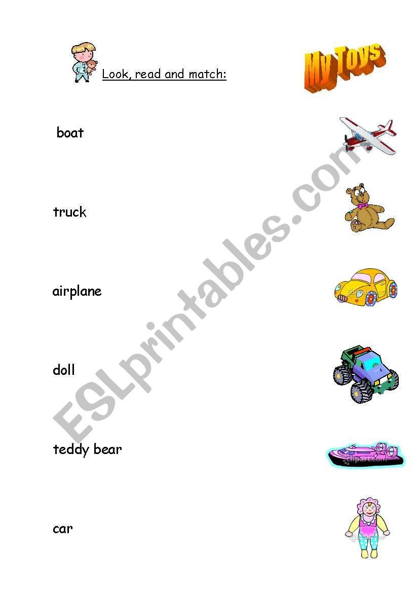 My Toys worksheet