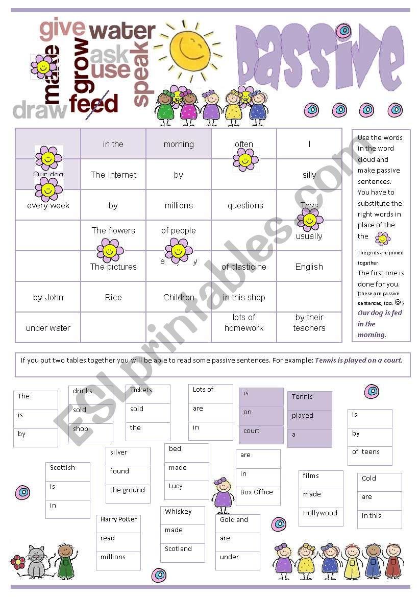 Passive-Pr. Simple worksheet
