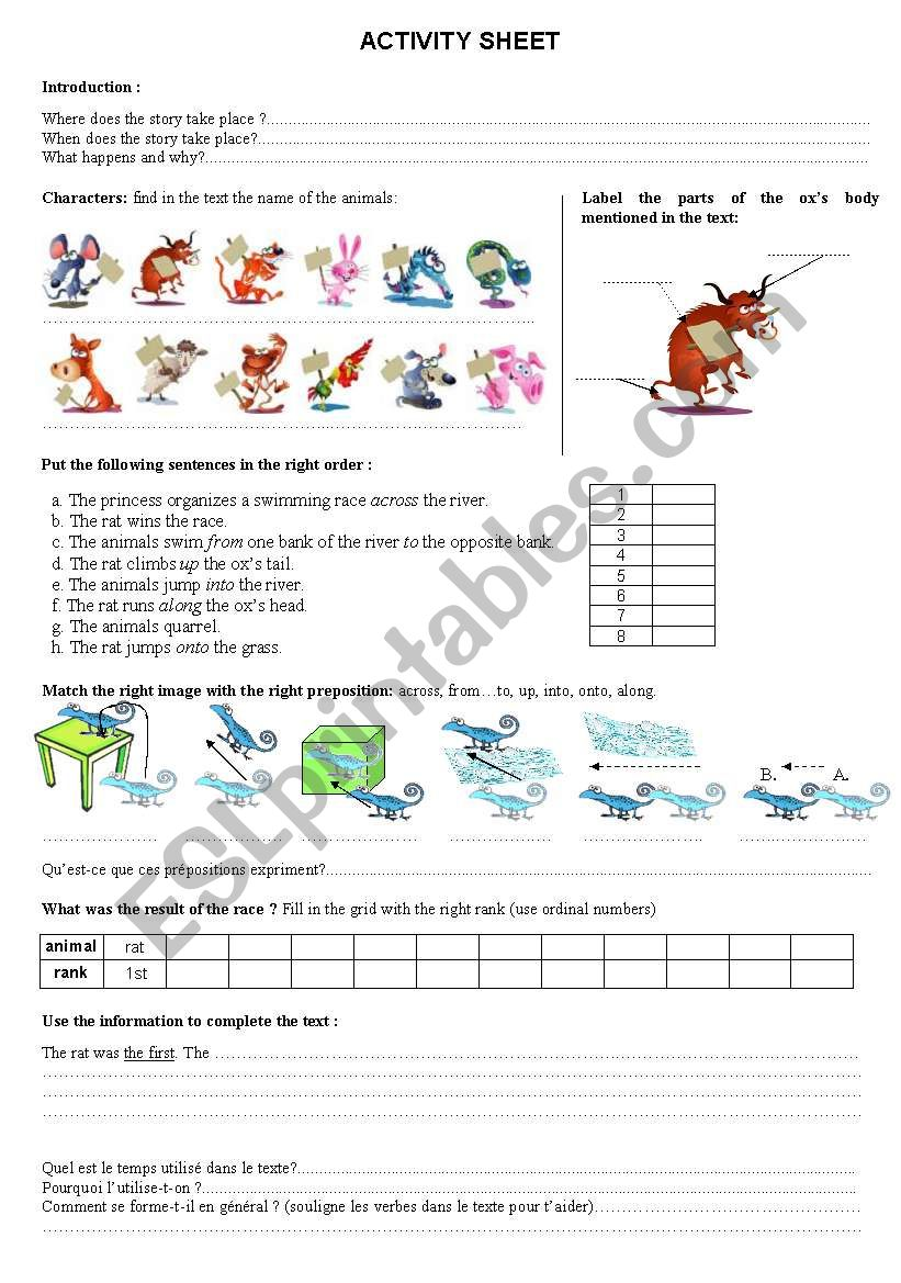 chinese zodiac legend worksheet esl worksheet by queensarah. Black Bedroom Furniture Sets. Home Design Ideas