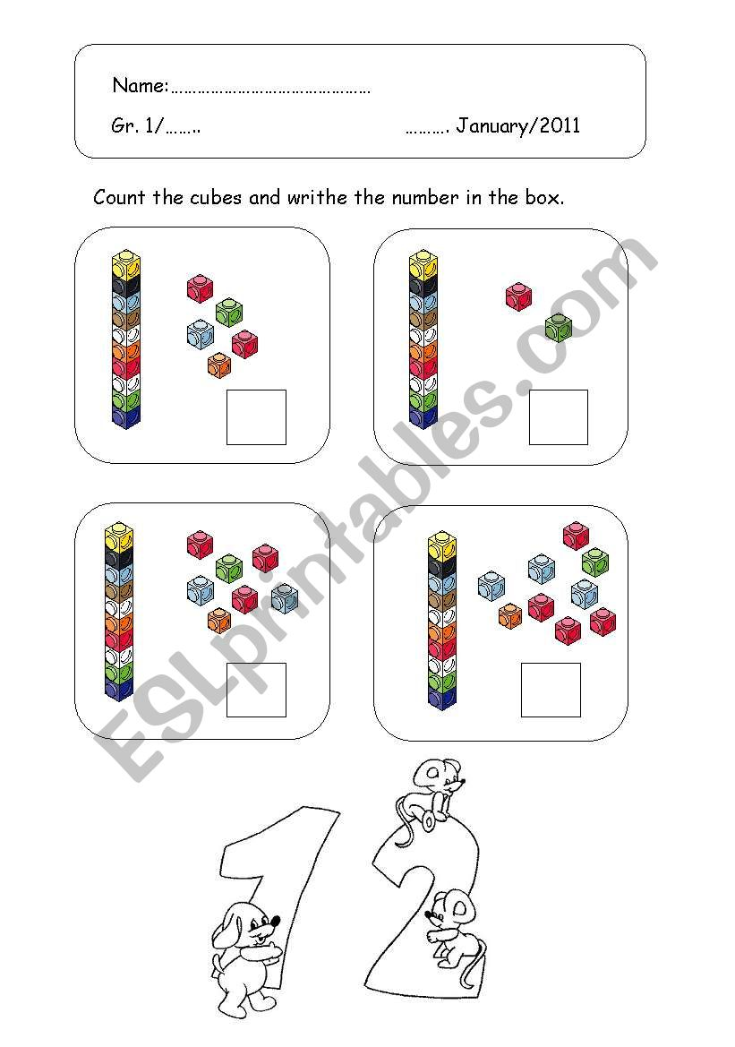 English Worksheets Counting Teen Numbers