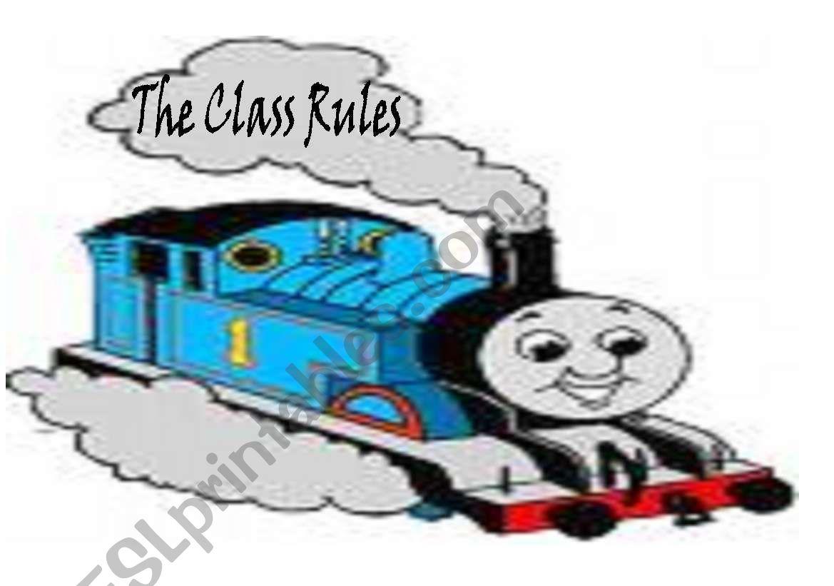 Class Rules Train worksheet