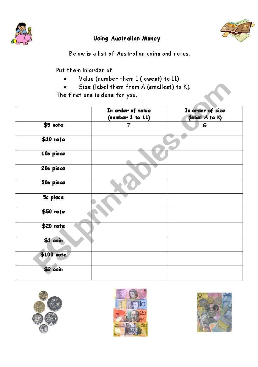 english worksheets using australian money. Black Bedroom Furniture Sets. Home Design Ideas
