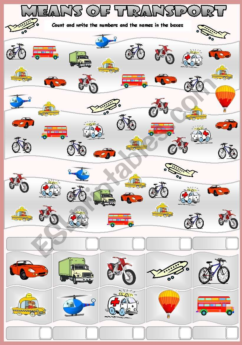 MEANS OF TRANSPORT - HOW MANY ARE THERE?