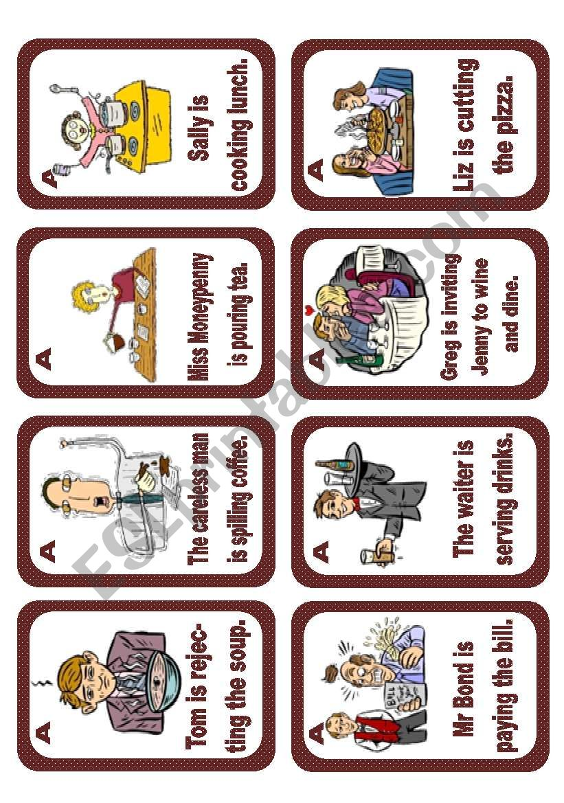Passive voice speaking cards Set 1 (Present progressive) - editable