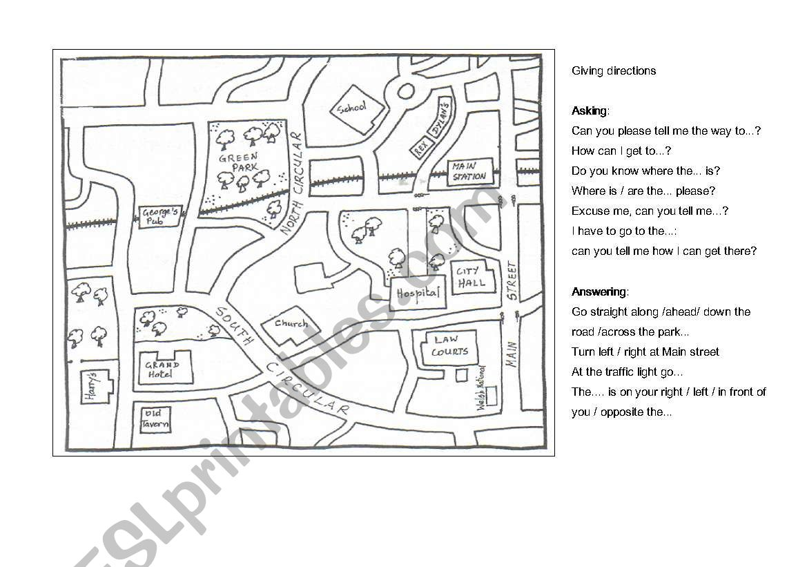 Map: How to get to worksheet