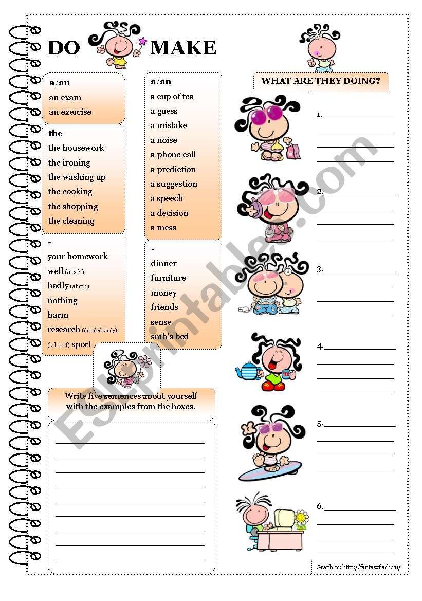DO or MAKE worksheet