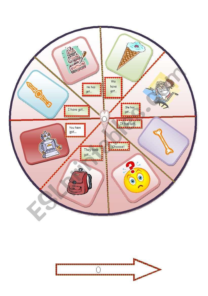 have got, has got spinner worksheet