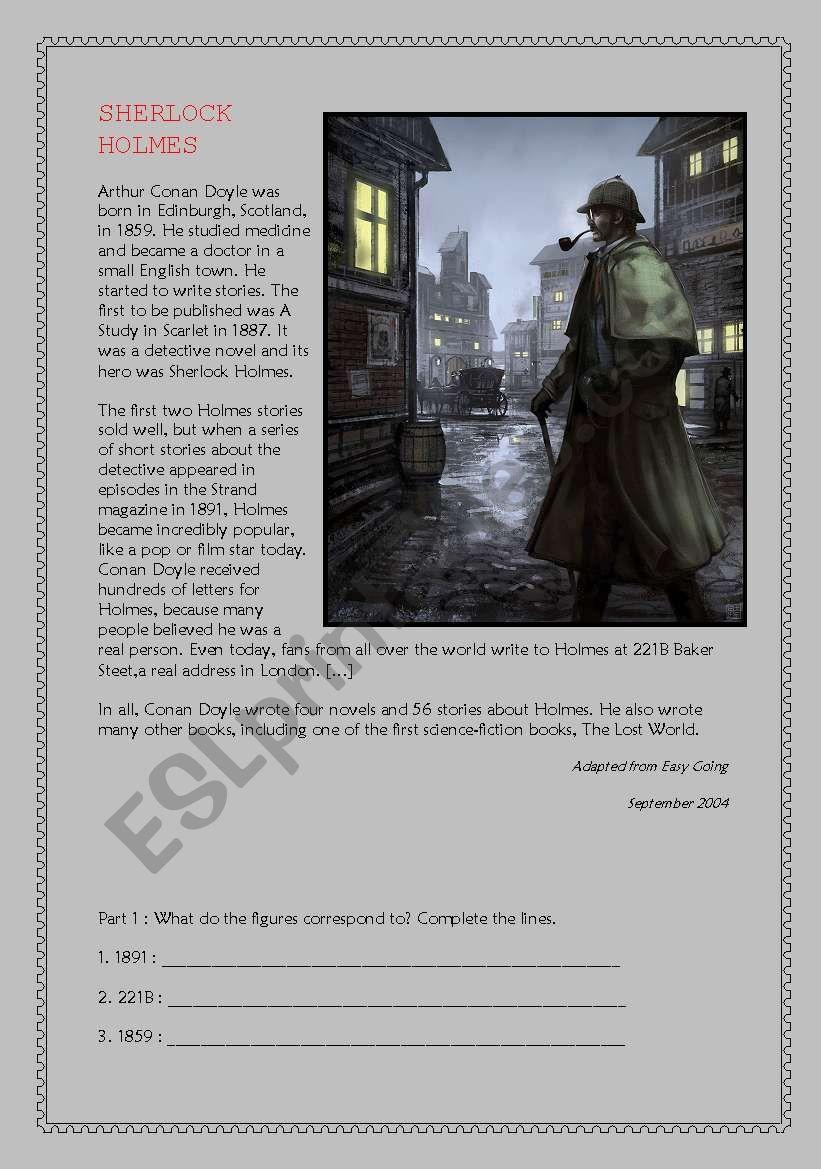 Sherlock Holmes - Reading Comprehension A2