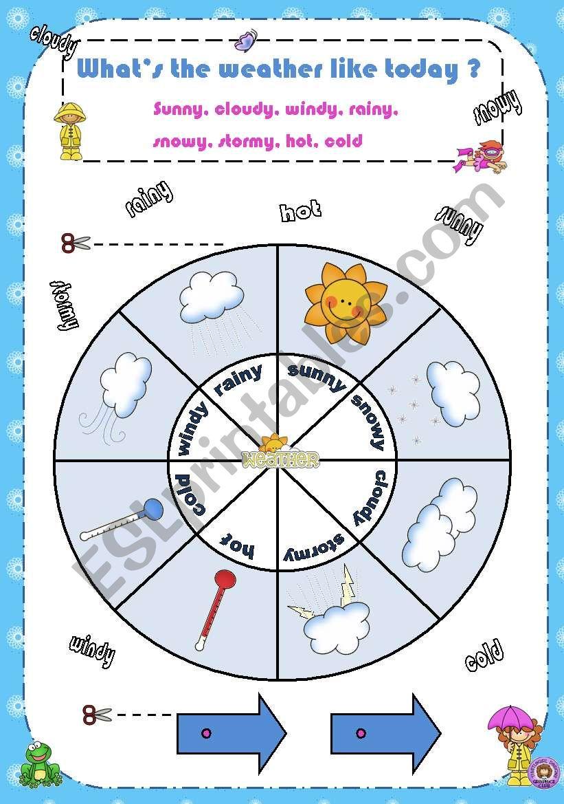 Weather wheel worksheet