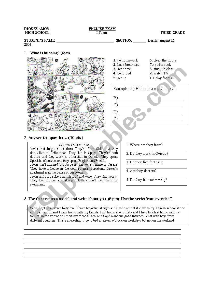 Practicing Present continuous worksheet