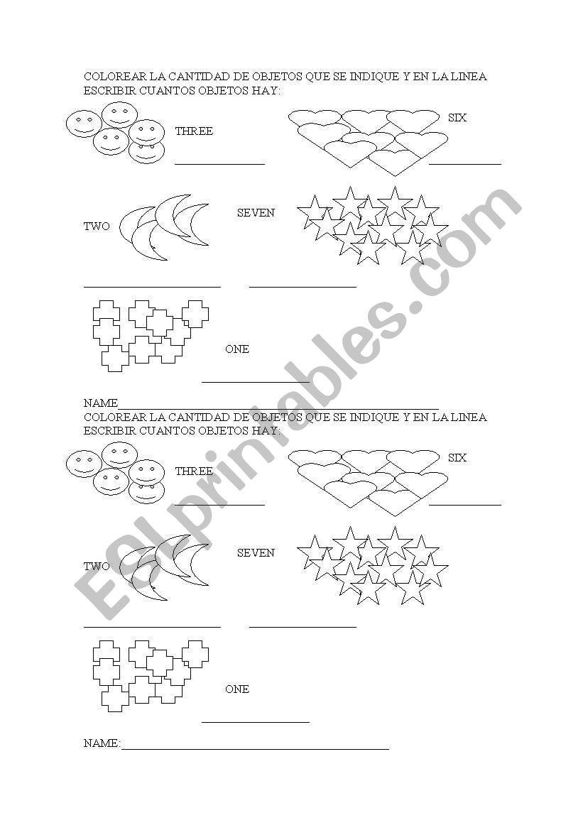 Numbers Esl Worksheet By Teachercherry07