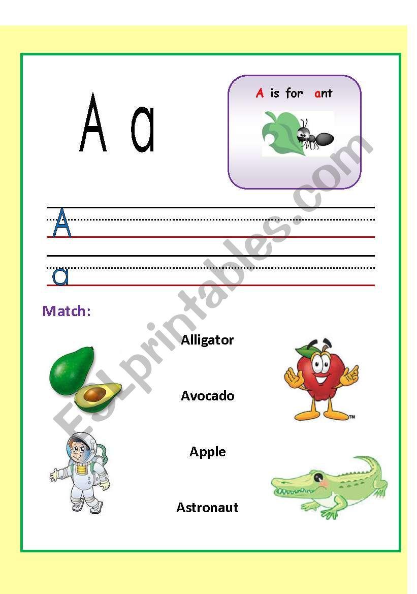 Alphabets WS. (1-3) worksheet