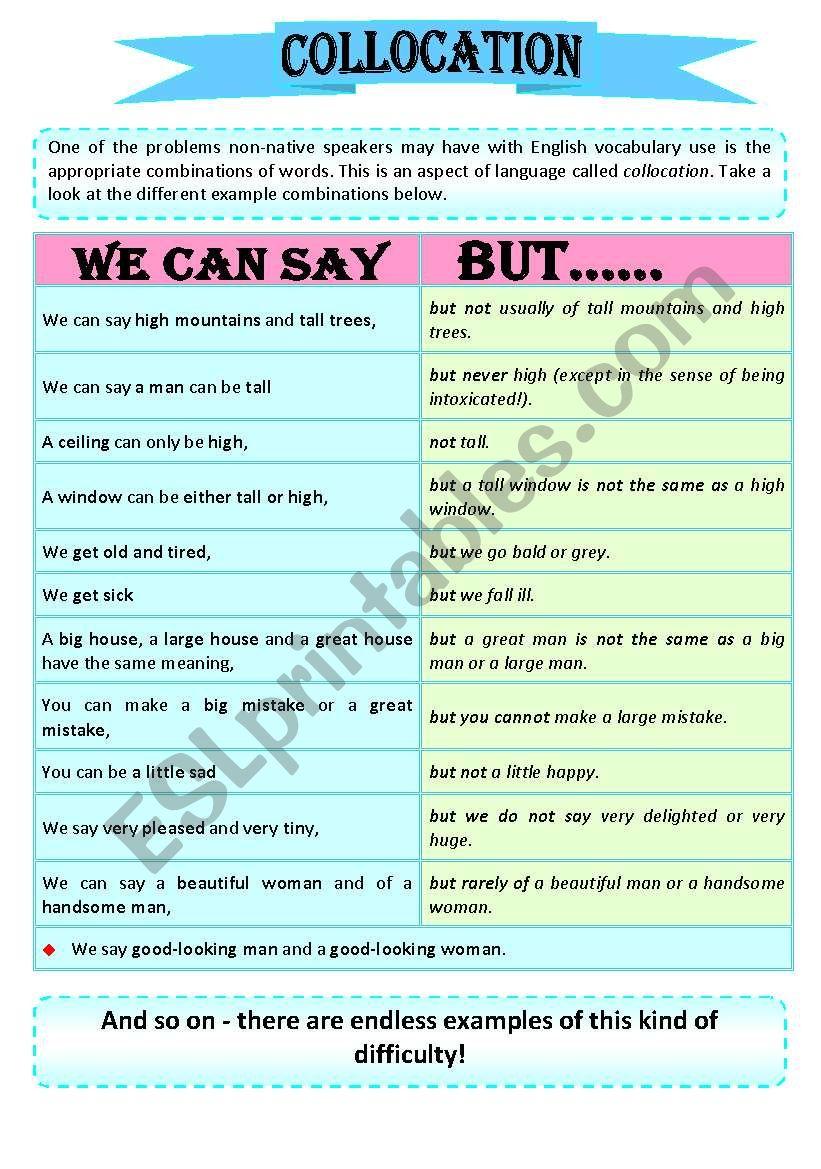 Collocation Part 1 worksheet
