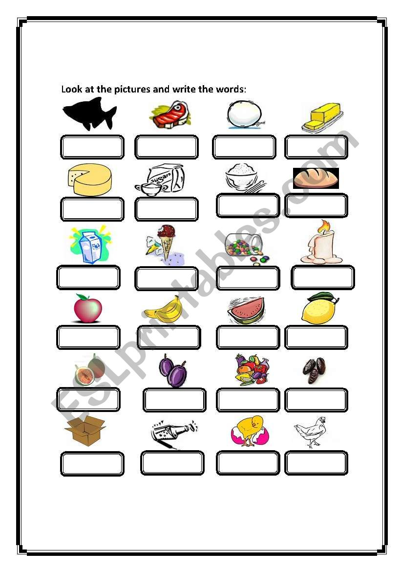 Look At The Pictures Then Write The Word Esl Worksheet By Themiracle
