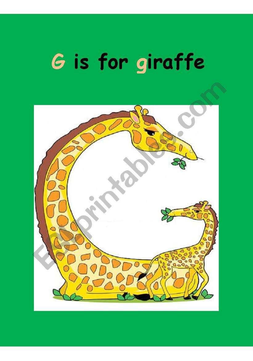 Animal  Alphabet Flash-cards (2-4)  editable