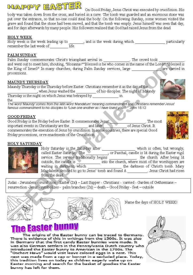 Easter-WS worksheet