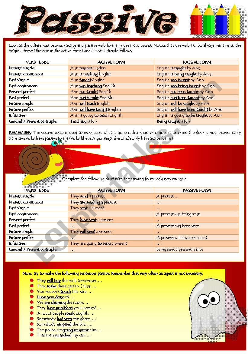 PASSIVE VOICE (part 2) worksheet