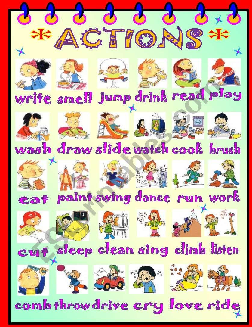 ACTIONS! worksheet