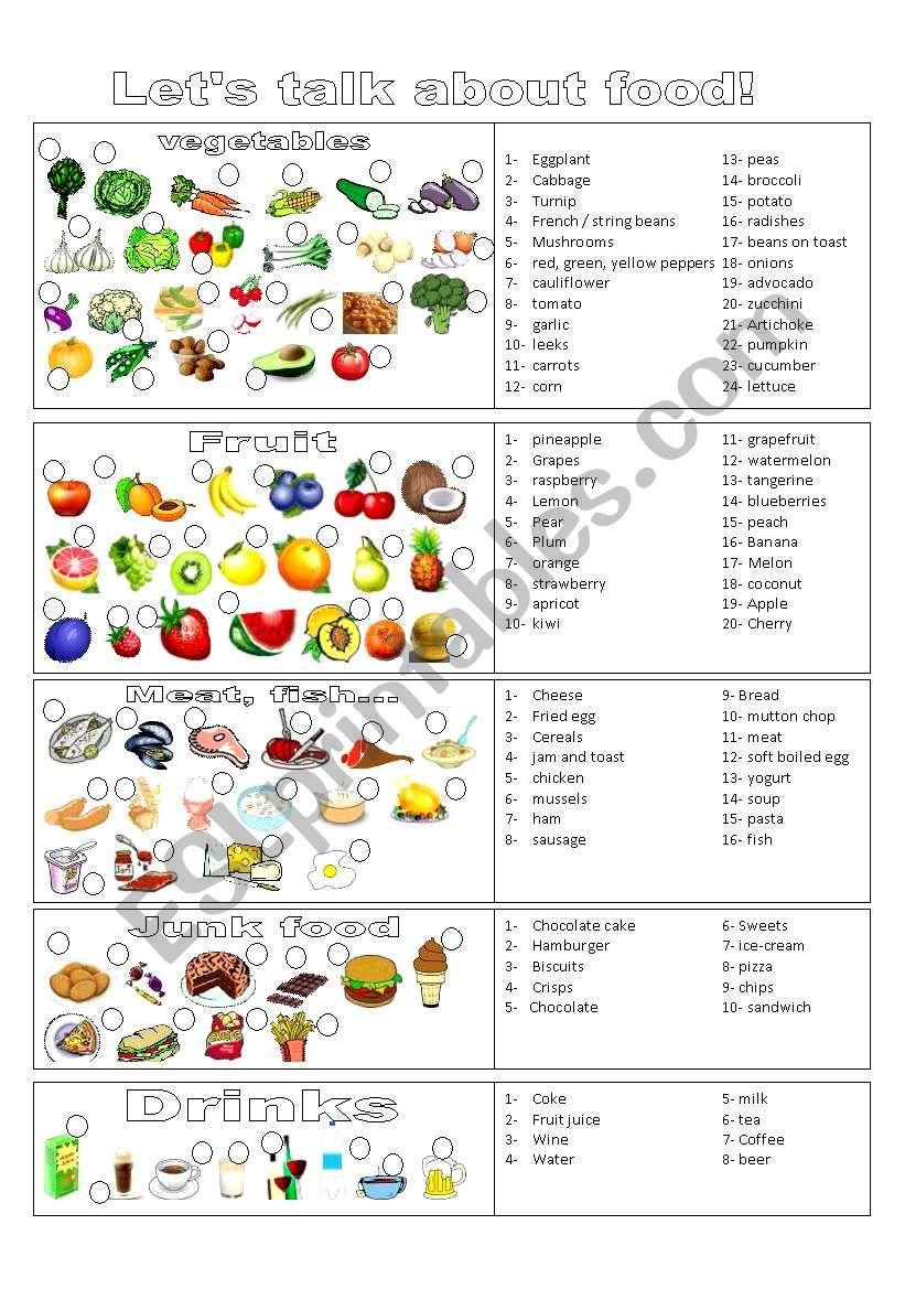 drinks food worksheet worksheets vocabulary esl drink fruit english vegetables curk abrir posted