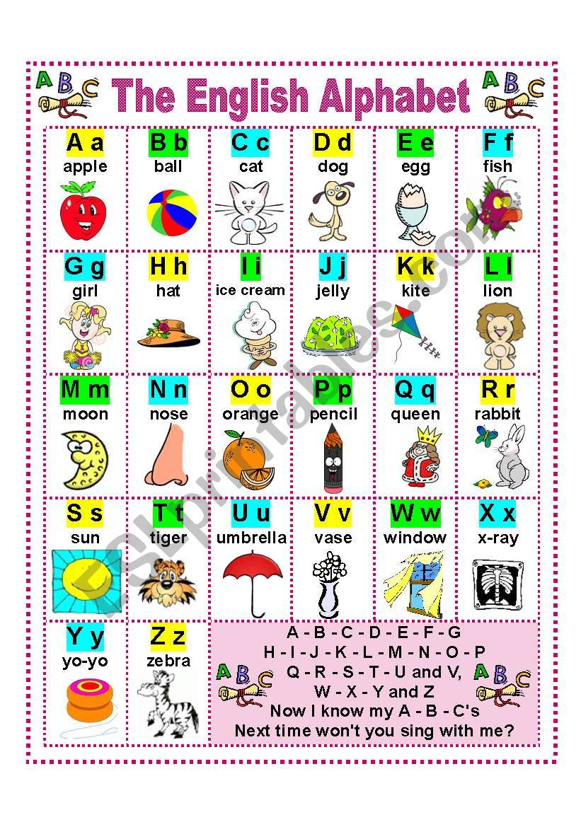 THE ENGLISH ALPHABET worksheet