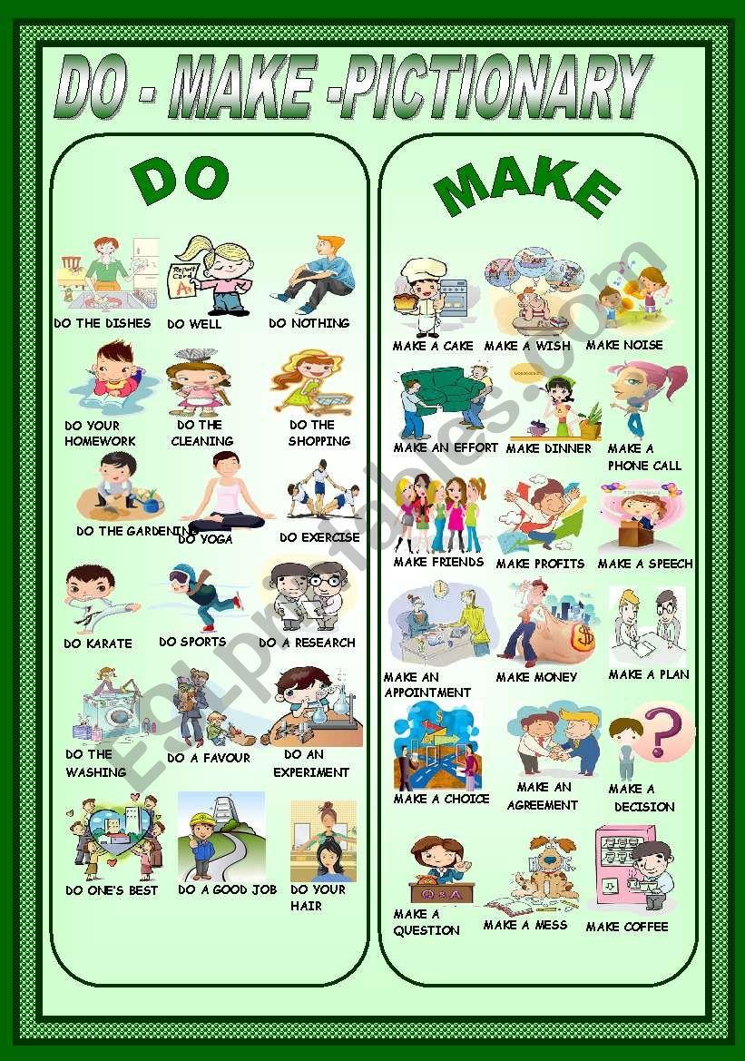 DO-MAKE -PICTIONARY worksheet