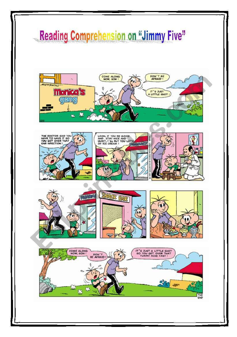 Reading Comprehension on comic strip