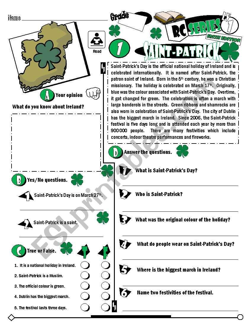 RC Series_Level 01_Irish Edition_01 Saint-Patrick´s Day (Fully Editable + Key)